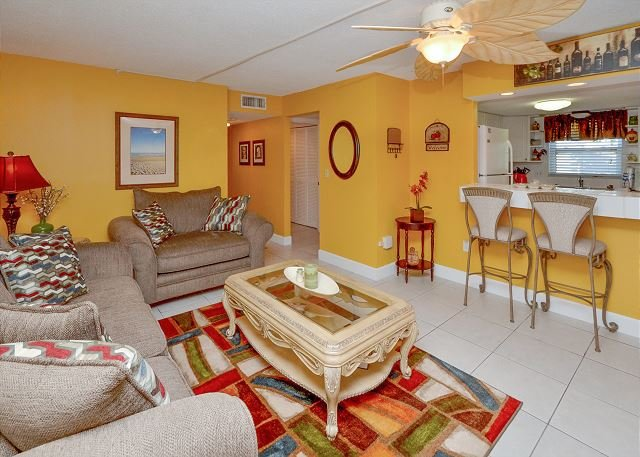Waves 19 - Large 2nd Floor Condo with 50 inch TV/DVD, Free WiFi and W/D! - Image 1 - Saint Pete Beach - rentals