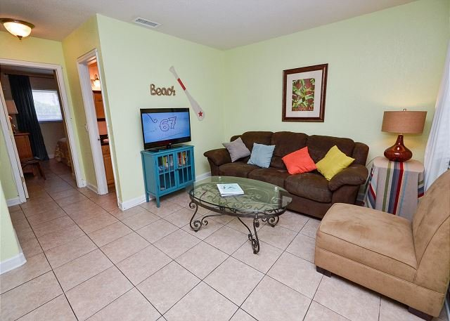 Living Room - Parkside 9 - Updated St Pete Beach Condo with Pool - Quick Walk to the Gulf! - Saint Pete Beach - rentals
