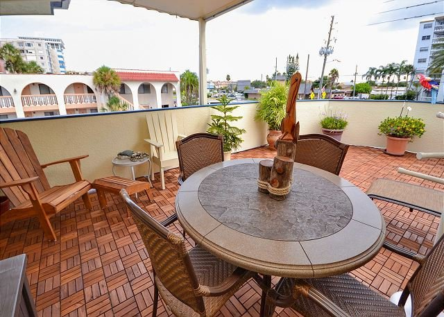 Beautiful Private Deck with Seating - Sea Rocket 30 - Second Floor, One Bedroom Condo with it's Own Private Deck! - North Redington Beach - rentals