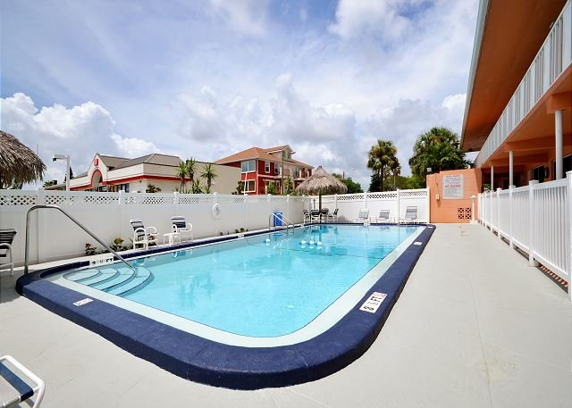 Tropic Breezes Pool Area - Tropic Breezes #10 - Gulf View 2nd Floor, One Bedroom Condo with a Pool! - Madeira Beach - rentals