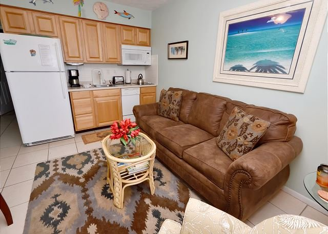 Sleeper sofa - Tropic Breezes #11 - 2nd Floor Bright and Beachy Gulf View Condo with a Pool! - Madeira Beach - rentals