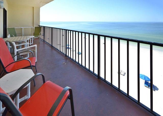 View from the Balcony - Las Brisas 402 Gulf Front Condo with Free WiFi, Plasma TV, Pool and BBQ! - Madeira Beach - rentals