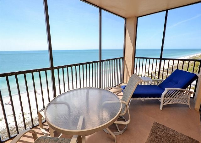 Gulf Front Screened Balcony - RN-908 Amazing 9th Floor Corner Condo with Upgrades Galore Pool, Spa, Tennis! - Indian Rocks Beach - rentals