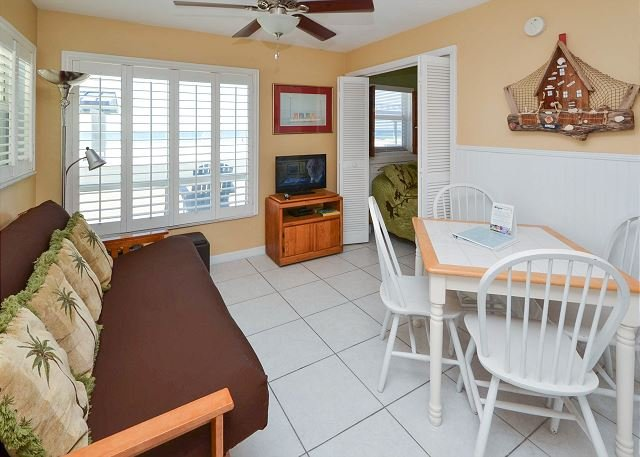 Living/Dining Spaces - Sea Rocket #6 - Directly Gulf Front with New Kitchen and Great Gulf View! - North Redington Beach - rentals