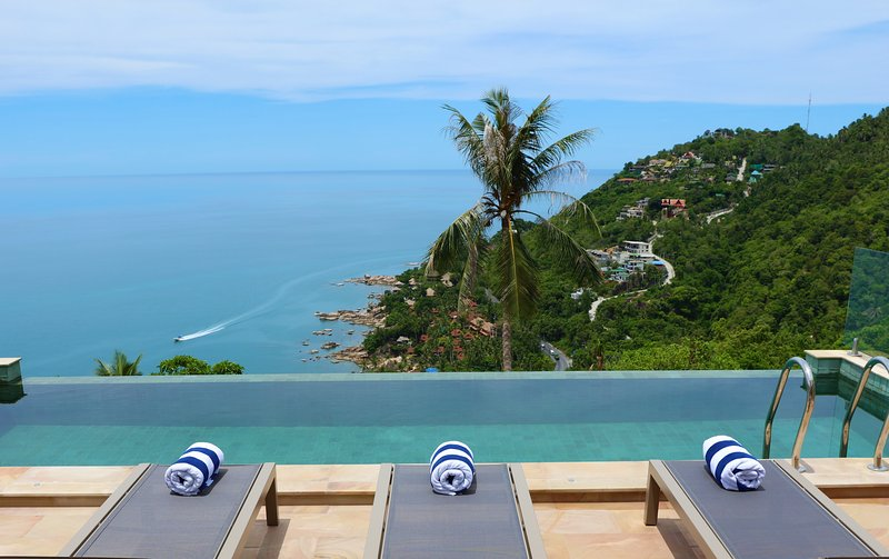 The Calvie's spectacular sea views.  - The Calvie: Luxury Sea Views and Infinity Pool - Chaweng - rentals