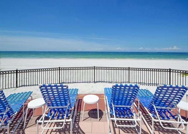 Tides Beach Club- View of the Gulf from the Pool - Tides Beach Club 341 - Highly Desirable 3 Bedroom Gulf Front Corner Condo! - North Redington Beach - rentals