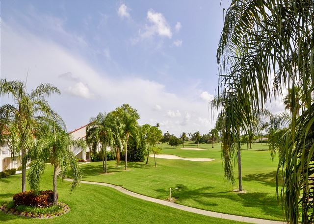 View of the Golf Course from Balcony - Vista Verde East 5-234- Beautiful 2nd Floor, 2 BR Condo at Isla Del Sol! - Saint Petersburg - rentals