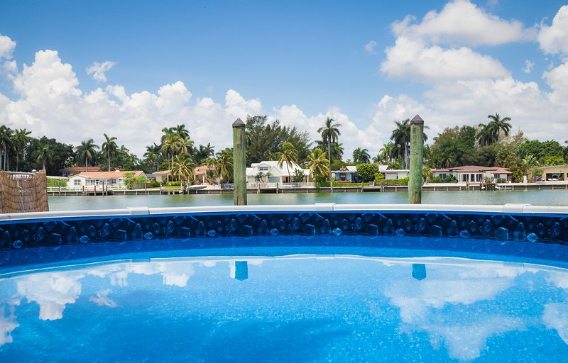pool - Spectacular Waterfront Villa  3 bedroom 2 baths - Miami Beach - rentals