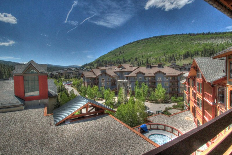 "SkyRun Property - ""CO515 Copper One 1BR 1BA"" - Private Balcony View - You can even see the building's hot tub and the climbing wall from your private balcony. - CO515 Copper One 1BR 1BA - Copper Mountain - rentals"