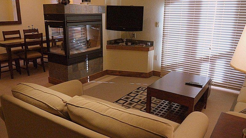 """SkyRun Property - """"CA1203 The Cache"""" - Living Room with Gas Fireplace - CA1203 The Cache - Copper Mountain - rentals"""