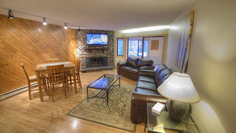 "SkyRun Property - ""BE108 Bridge End"" - Living Room wood burning fireplace, queen sleeper sofa - BE108 Bridge End - Copper Mountain - rentals"