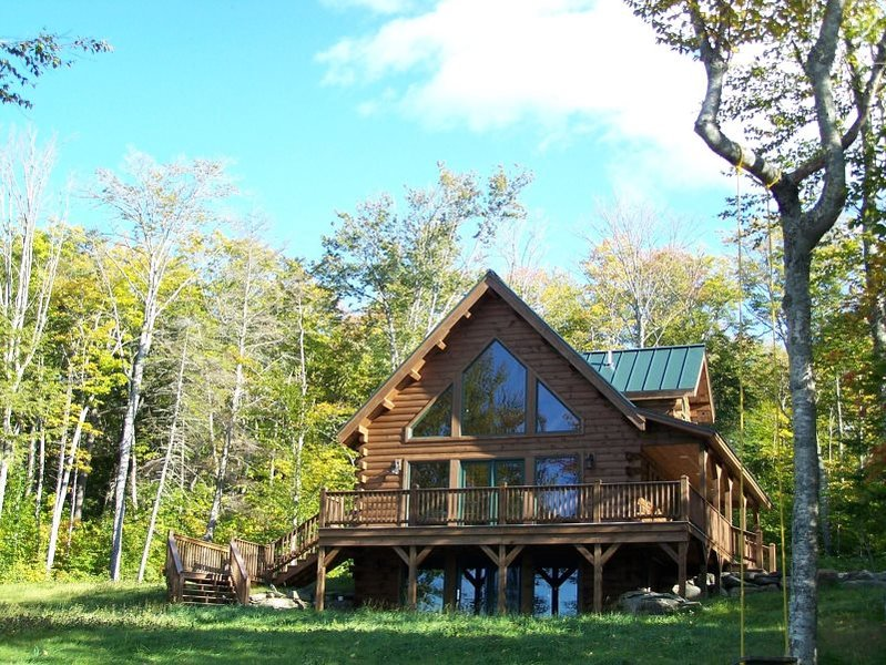 Front Exterior - #103 Brand-new post & beam log cabin with 2 master bedrooms - Rockwood - rentals