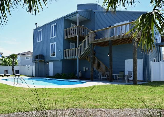 Back of home with fenced backyard. - Maldonado 1205 - Pensacola Beach - rentals