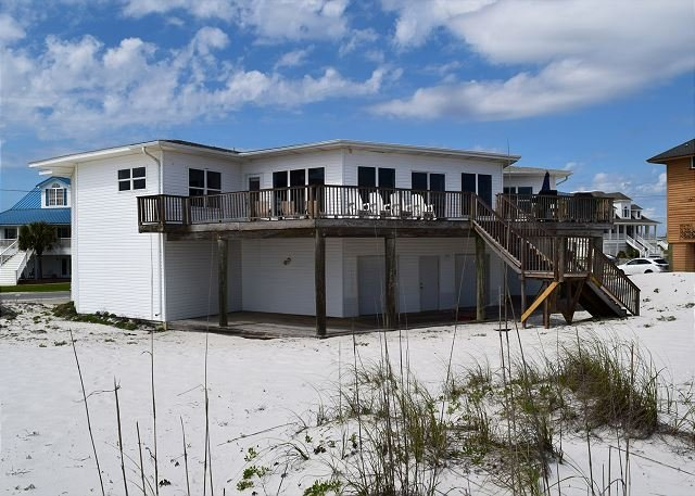 The gulf side of the home offers and expansive deck and access to the beach. - Ariola 1300 - Pensacola Beach - rentals