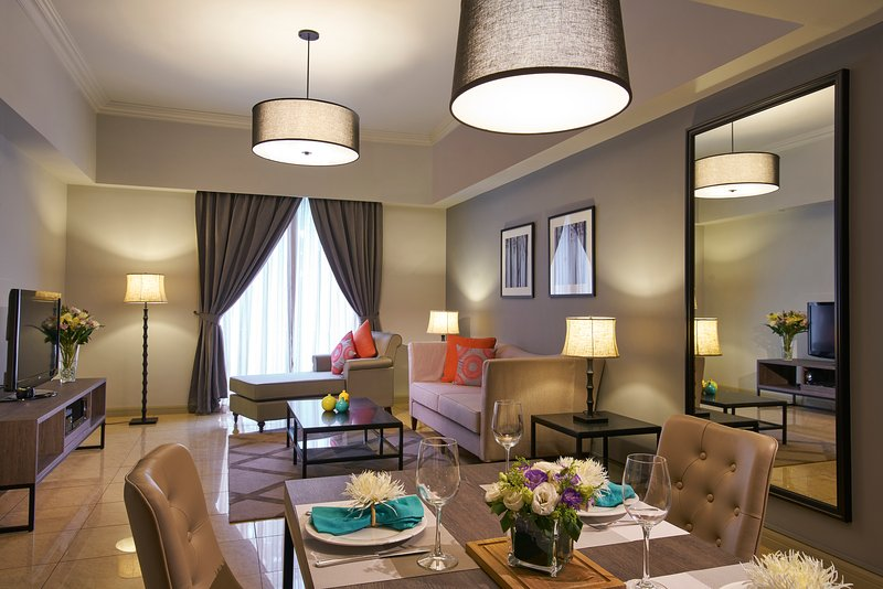 Living and Dining area  - Regency House 2-Bedroom Apartment - Singapore - rentals