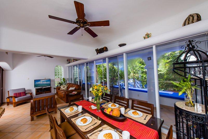Living area with comfortable seating - Casa Anatolia 3 Bdr 3 bath  Playa del Carmen Condo - Playa del Carmen - rentals