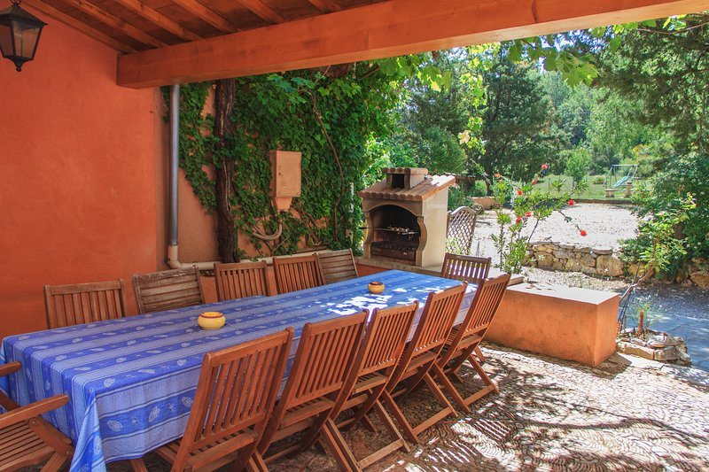 Terrace and summer kitchen - Gite de la Sauge-Wonderful, Pet-Friendly 4 Bedroom Cottage - Brignoles - rentals