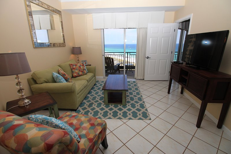 Living room with gulf view - Winter Rates from $149. 5- 2 Bedrooms Available! - Destin - rentals