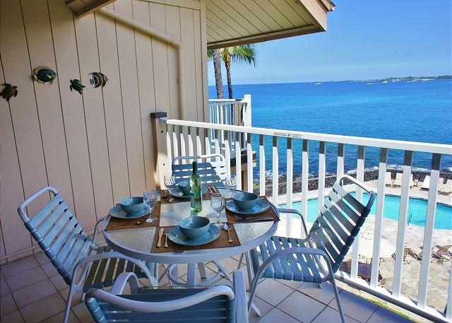 Lanai with Great Ocean Views - Beautiful 2 bedroom 2 bath with great ocean view!-SV3309 - Kailua-Kona - rentals