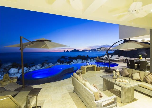 Casa Luna - Footsteps in the sand oceanfront private villa with arch view - Image 1 - Cabo San Lucas - rentals