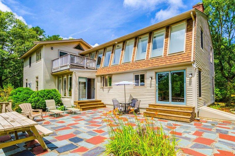 Flagstone patio area - Beautiful, 3,100 Sq.Ft. Home in the Welfleet Woods - Wellfleet - rentals