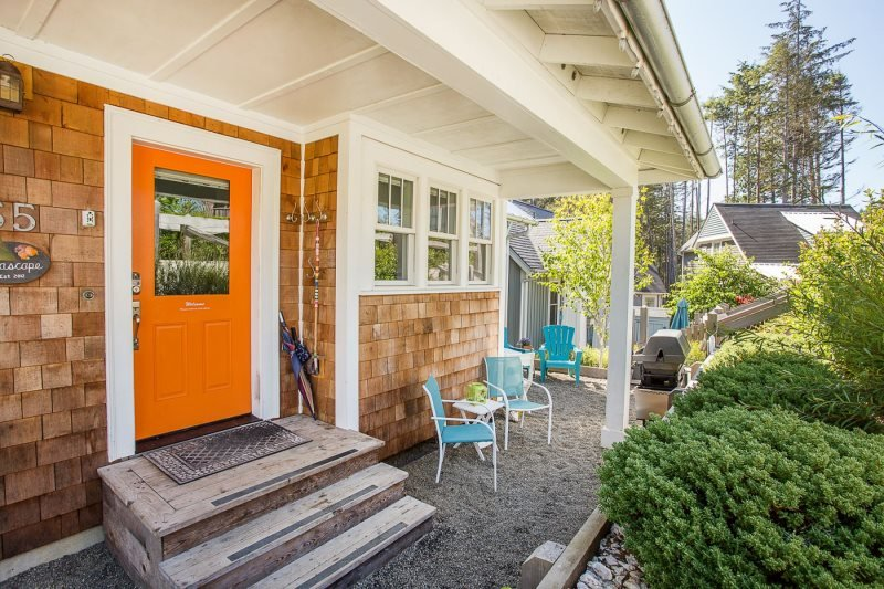 Seascape front entry way with outdoor seating - Seascape - Pacific Beach - rentals