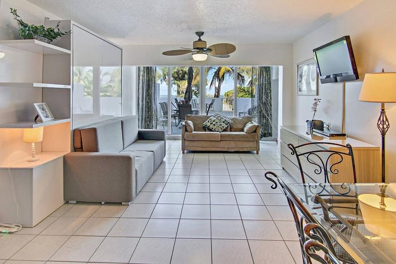 Modern, oceanfront condo near beach w/ view, pool, and other resort amenities - Image 1 - Miami Beach - rentals