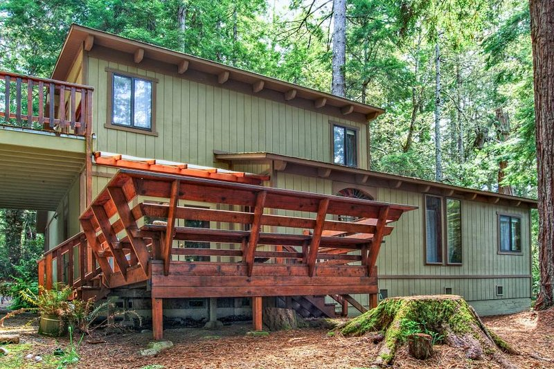 Secluded dog-friendly home w/ deck, cozy interior, great location, and more! - Image 1 - Mendocino - rentals