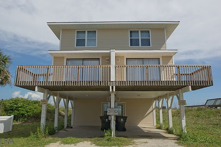 Exterior - Beach Blessing - Excellent View, Simple & Cozy Duplex, Oceanfront Access - North Topsail Beach - rentals