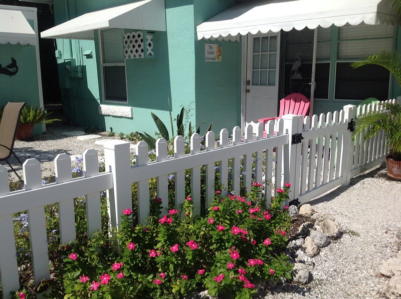 Our front door. - The Little Mermaid On Beautiful Anna Maria Island! - Bradenton Beach - rentals