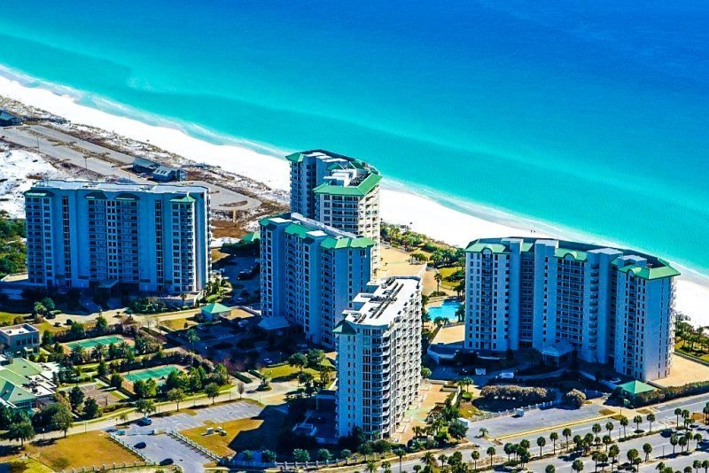 Silver Shells Resort and Spa Aerial View - 20% OFF March:PH5 Gulf View at BEACH FRONT Resort w/ Large Resort Pool & Spa! - Destin - rentals