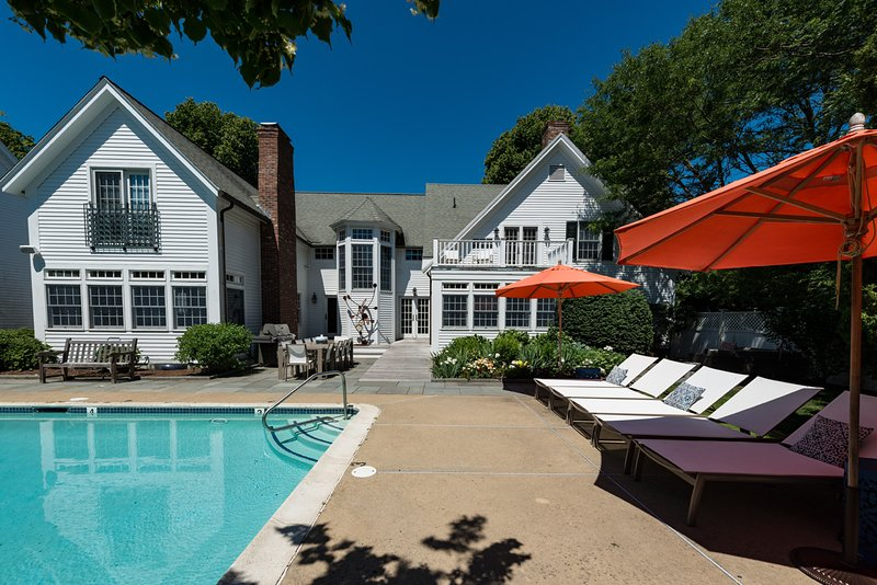 Pool, Patio Area - YASED - STUNNING EDGARTOWN VILLAGE LUXURY COMPOUND, HEATED POOL BORDERED BY - Chappaquiddick - rentals