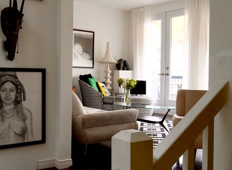 living - SUPERB Plateau Mont Royal luxury condo - Montreal - rentals