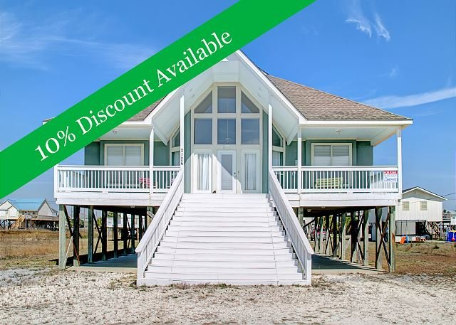 10% Discount Available | Near Gulf of Mexico | Beautiful deck | Pet Friendly! - Image 1 - Dauphin Island - rentals