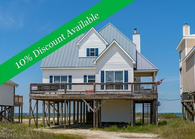 10% Discount Available | On the Sound | Amazing Deck | Fully stocked kitchen! - Image 1 - Dauphin Island - rentals