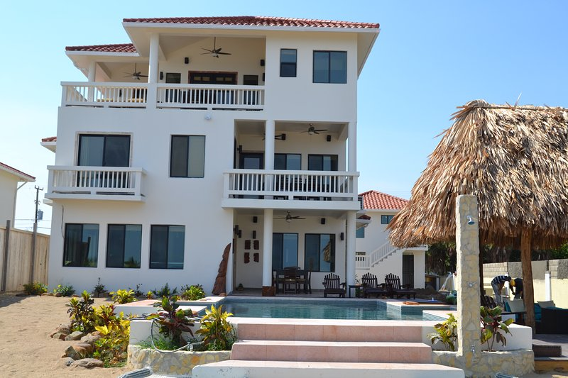 New 5 Bedroom Private Beach Front 3 Story Custom Home with Pool - Image 1 - Placencia - rentals