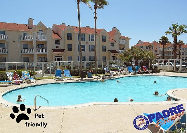Heated pool at Beach Club - Villa by the beach is a recently remodeled Condo close to the Beach! - Corpus Christi - rentals