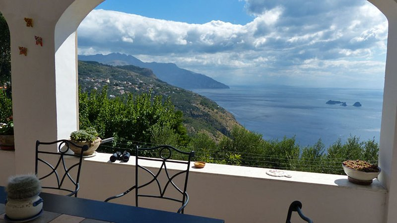 01 Villa Incanto view on the Amalfi Coast - VILLA INCANTO Sant'Agata - Sorrento area - Sant'Agata sui Due Golfi - rentals