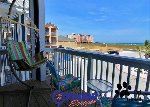 Private balcony with gulf view - Extraordinary Vacation Rental Property just steps Off the Beach! - Corpus Christi - rentals