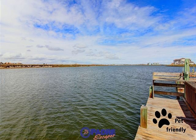 Water view from complex deck that's available for guest use - Enjoy this Waterfront cottage that's just a short walk from the Beach. - Corpus Christi - rentals