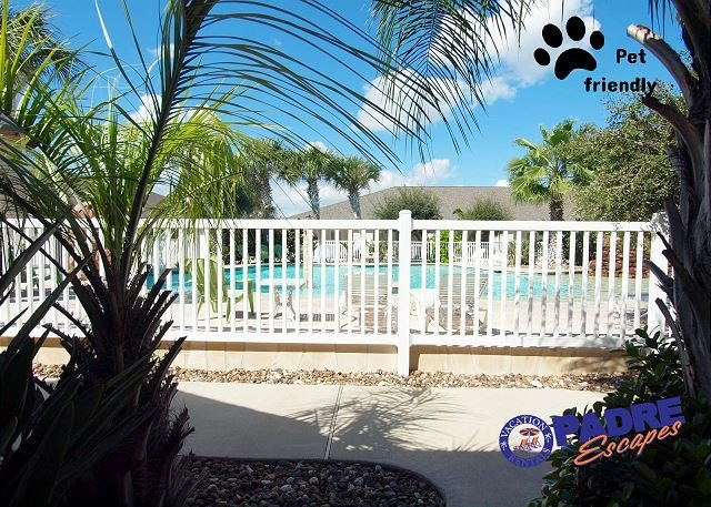 Pool view from your Patio - Beautiful 3 bedroom Poolside property the whole family will enjoy! - Corpus Christi - rentals