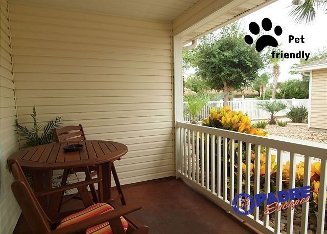 Private patio - Come enjoy the nicest Lagoon-style Pool on the Island! - Corpus Christi - rentals