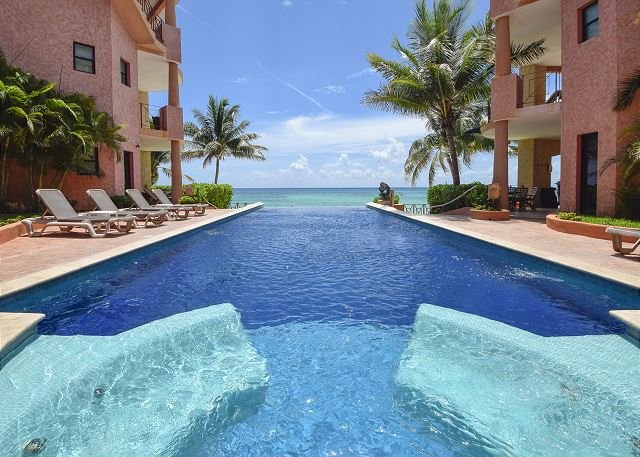 Oceanfront 3 Bdrm with pool!! Luna Encantada B2 - Image 1 - Playa del Carmen - rentals