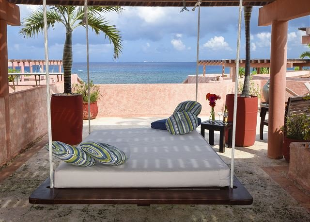 Oceanfront with pool 2 bedroom penthouse (LEG3) 35% off - Image 1 - Playa del Carmen - rentals
