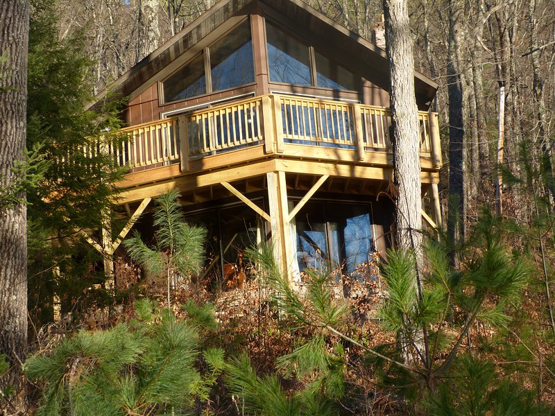 Looking up from driveway - Quiet Gore Mtn Area Home w/ Full Kit & Great View - North Creek - rentals