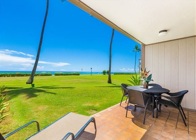 Pono Kai Unit C-101, Oceanfront, Ground Floor, End Unit, Steps from the Beach - Image 1 - Kapaa - rentals