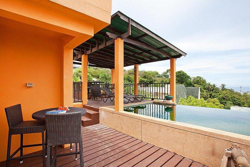 Hillside 3 bed sea view villa in Karon - Image 1 - Ban Khok Chang - rentals