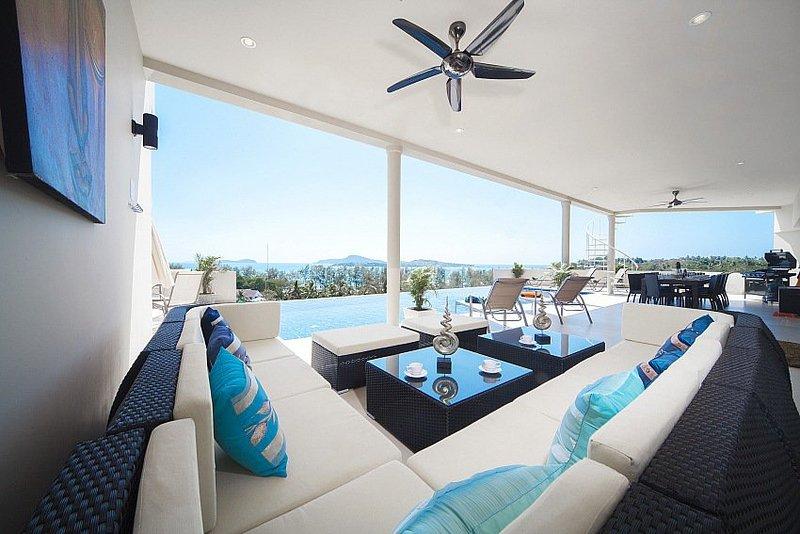 Stunning 8 bed sea view villa at Rawai - Image 1 - Coral Island (Koh Hae) - rentals