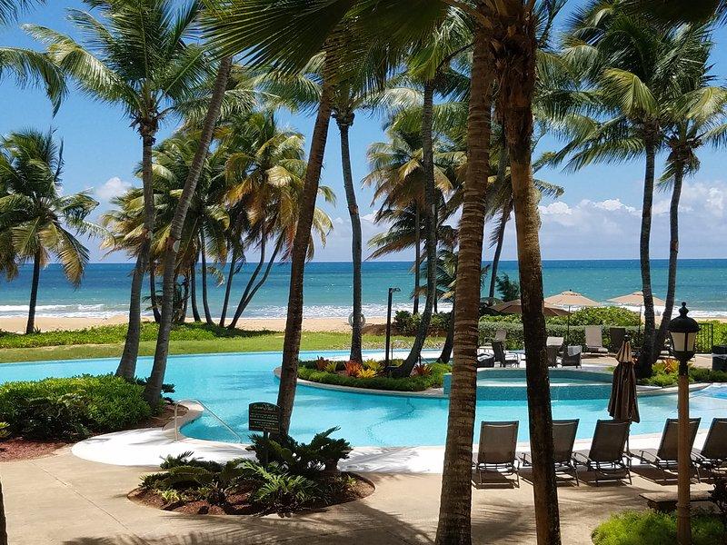 Pool a few steps from our villa.  - Private Beachfront Villa at Wyndham Rio Mar Resort - Rio Grande - rentals