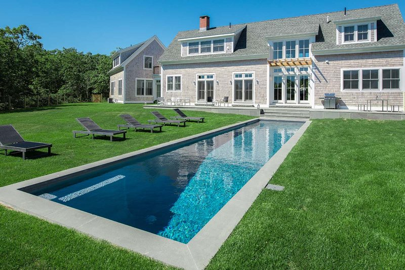CHAVG - Oustanding Contemporary Designer Home, Heated Pool, Walk to Association Tennis Courts. - Image 1 - Martha's Vineyard - rentals